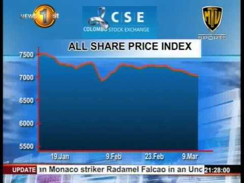 All Share Price Index drops for a 9th consecutive day