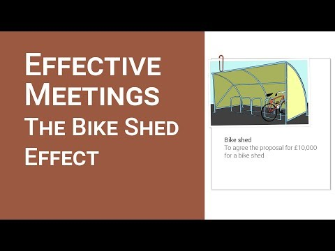 Meetings: The bike shed effect by What you need to know