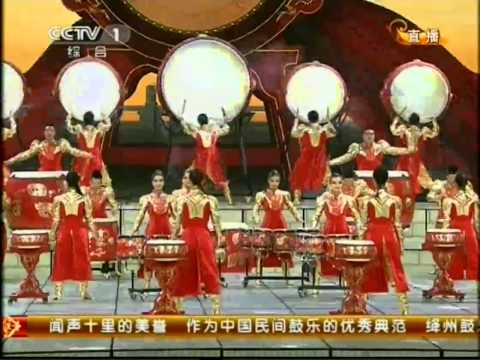 2012 央视春晚 Chinese Spring Festival - Jiangzhou drum music - The Drum rhyme of Dragen