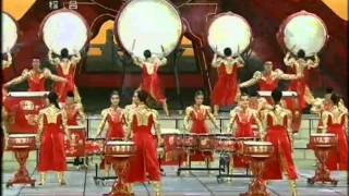 2012 央视春晚 Chinese Spring Festival Jiangzhou Drum Music The Drum Rhyme Of Dragen