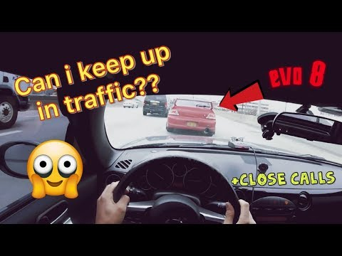 Racing crazy drivers through traffic!!