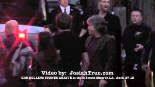 The Rolling Stones all arrive at The Echoplex for Surprise Show before 50th tour Kick Off