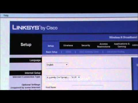 How To Set Word On Linksys Router