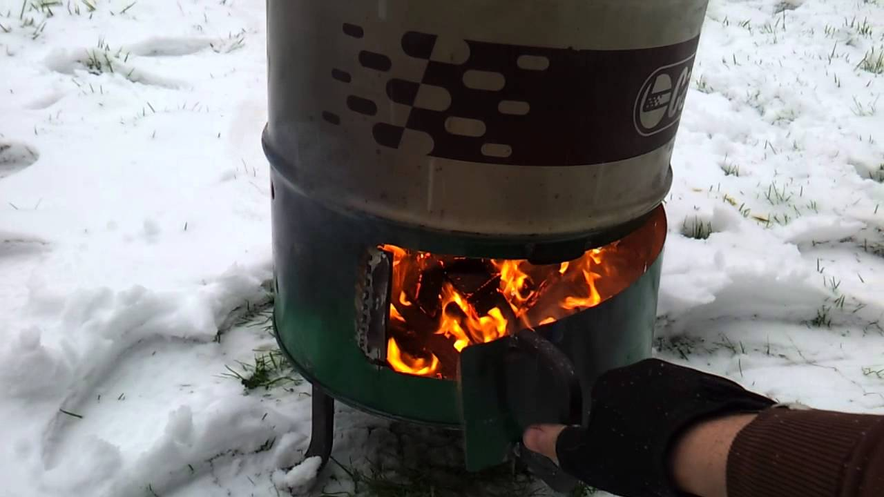 Wood Burner made from 60 Litre oil drum  YouTube
