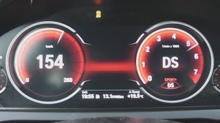 2012 BMW 750i (F01) 450 HP 0-100 km/h Acceleration