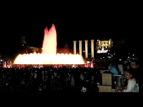 Spectacular Views of Barcelona Spain at Night