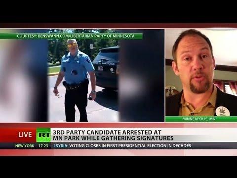 Minnesota police shut down Libertarian candidate's campaign