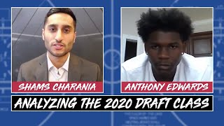 Shams Charania talks with potential top pick Anthony Edwards