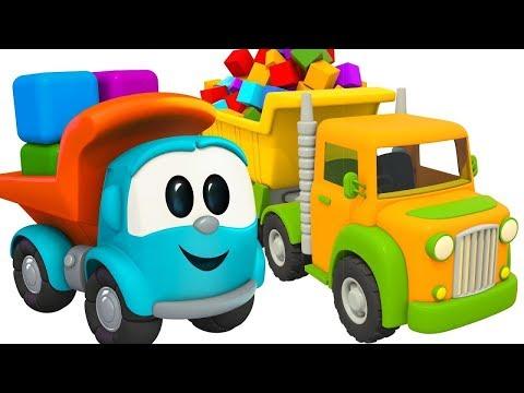 Çizgi film. Küçük kamyon Leo robotlarla kale yapıyor!