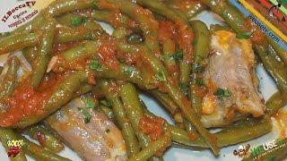 311 - Gattopardo con fagiolini......mangi anche i tavolini! (secondo di pesce facile buono e veloce)