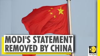 Indian PM Modi's statement removed by China | WION News