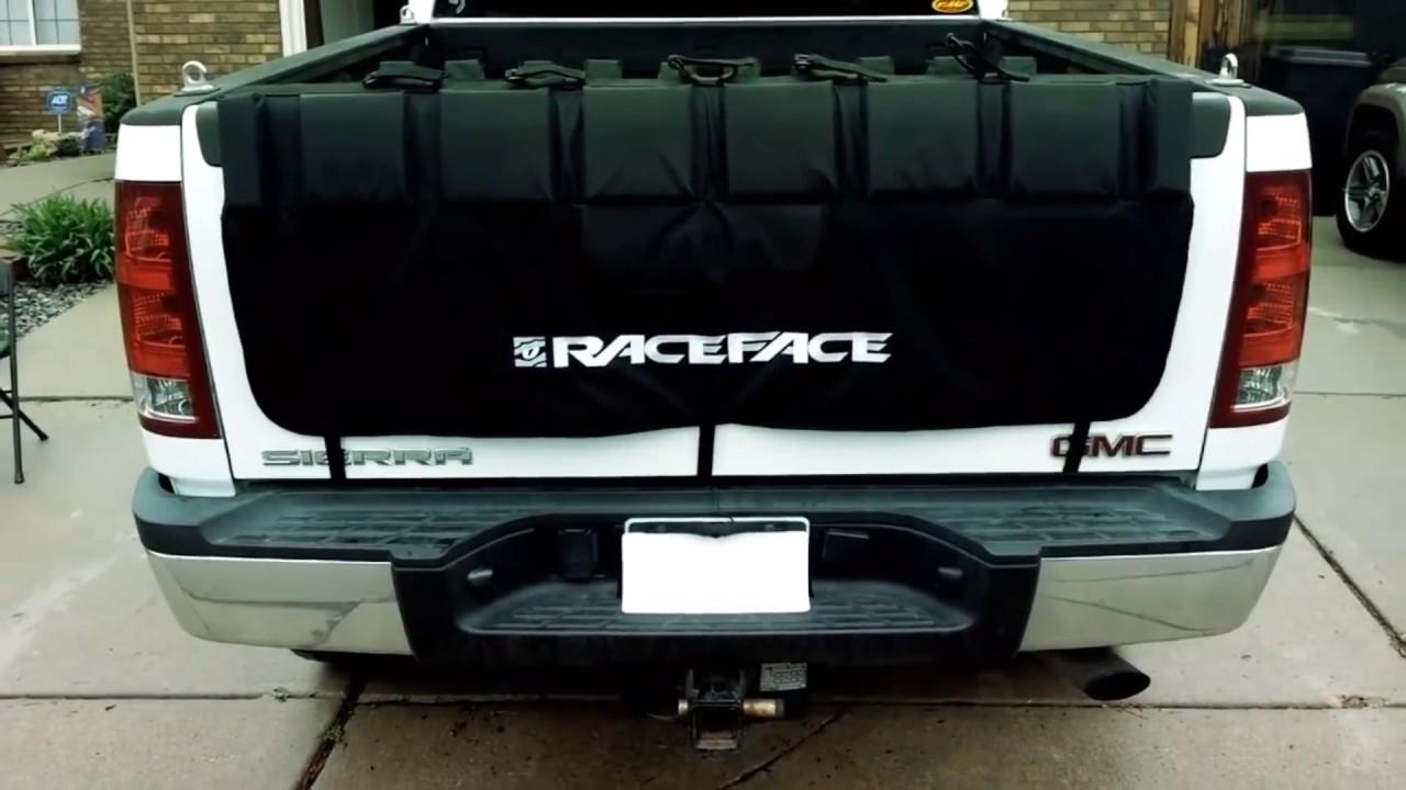 RaceFace Pickup Truck Tailgate Crash Pad Review (Bike Rack ...