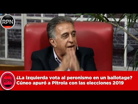 ¿La Izquierda Vota Al Peronismo En Un Ballotage? Cúneo Apuró A Pitrola Con Las Elecciones 2019