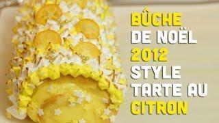 Recette : bûche de Noël façon tarte aux citrons meringuée