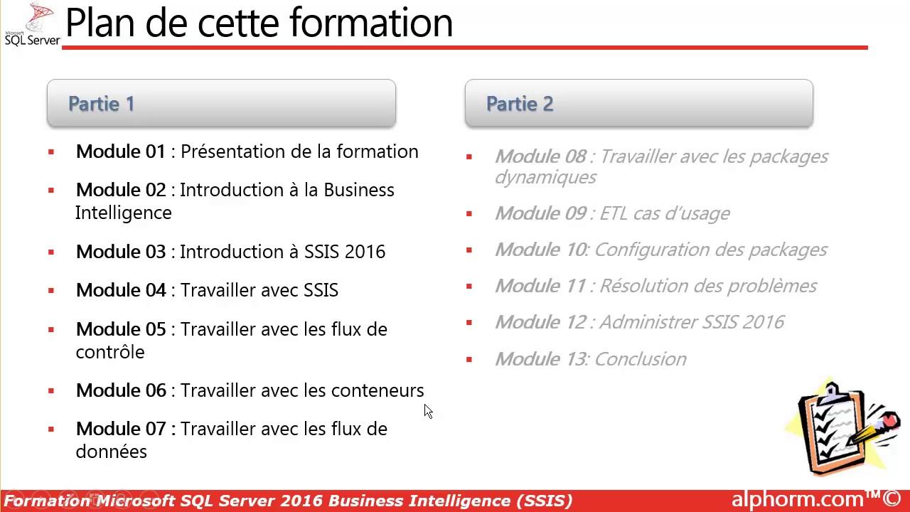 Prsentation de la formation microsoft sql server 2016 business prsentation de la formation microsoft sql server 2016 business intelligence ssis xflitez Choice Image