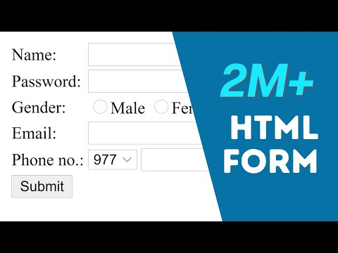 How To Create Registration Form In HTML - Easy Step (2020)