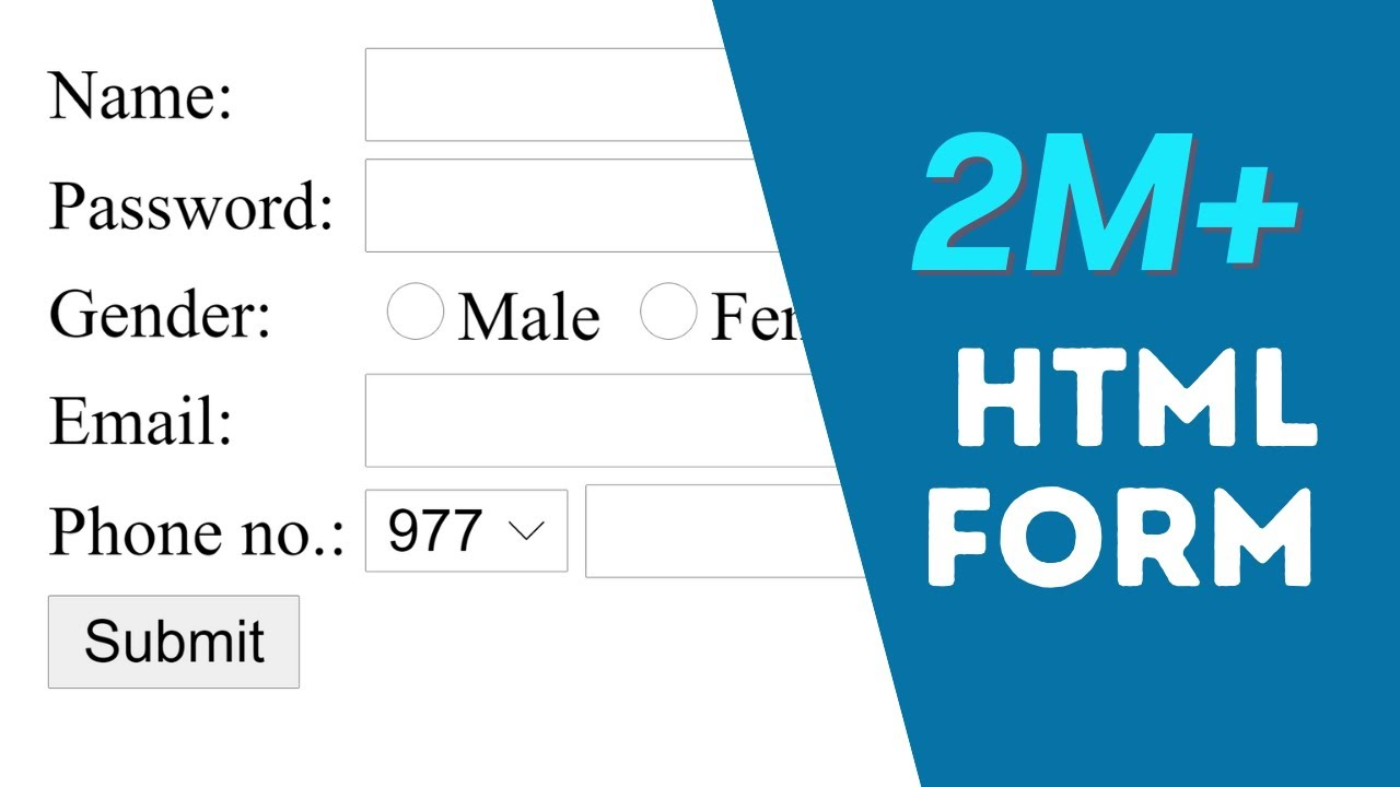 How to Create Registration Form in HTML  Easy Step  YouTube