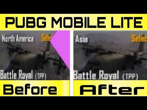 north america server to Asia Server | PUBG MOBILE LITE