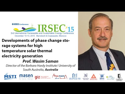 Prof. Wasim Saman, Keynote Speaker in IRSEC'15
