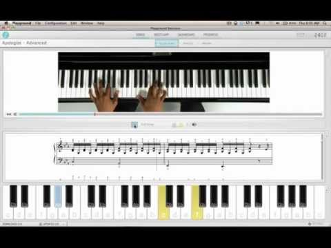 How to Play Apologize on Piano (Advanced) Tutorial from Playground Sessions