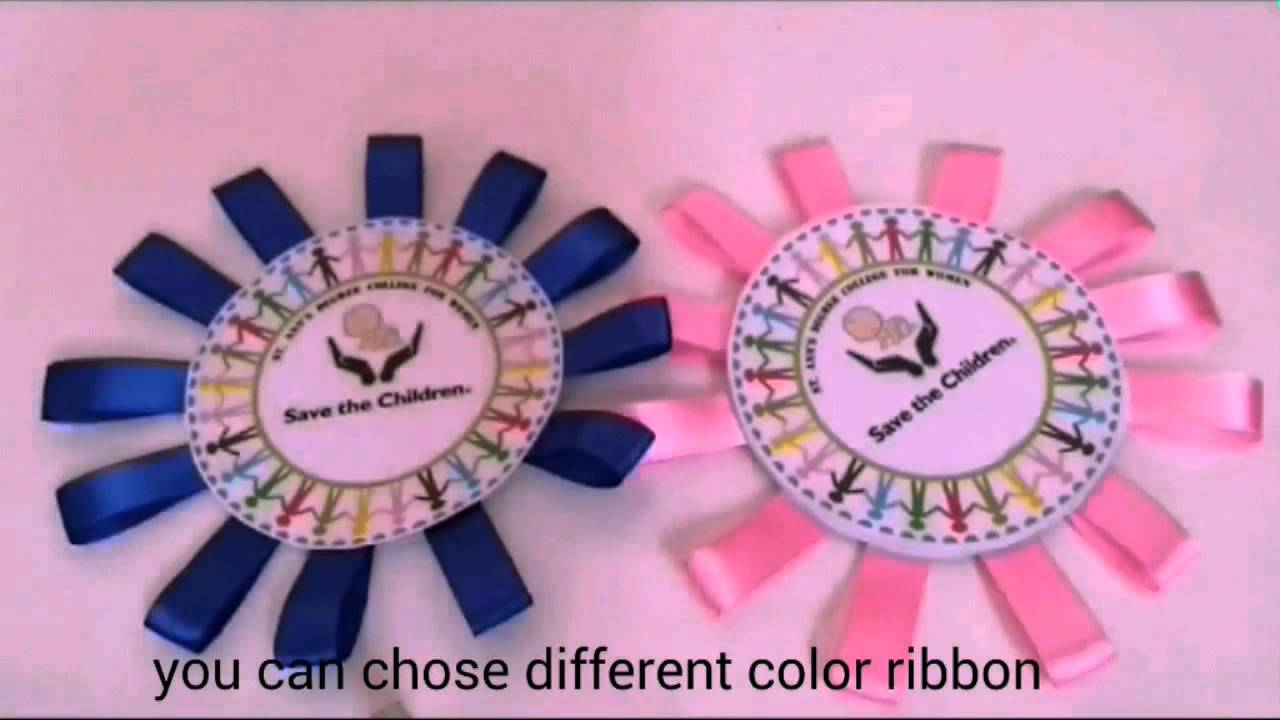 DIY ribbon badges