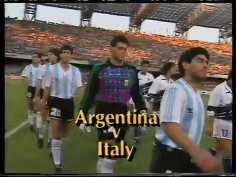 1990 Argentina vs Italy flute song World Cup Highlights VHS