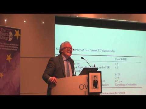 Patrick Minford at Bruges Group