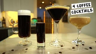 Four Coffee Cocktails