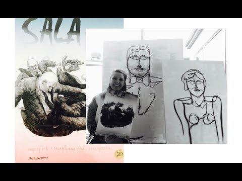 Modern Art Exhibition By Australian Artist Sarah Jane