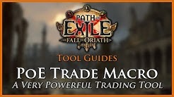 Path of Exile Tools: PoE Trade Macro