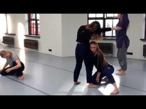 Æfing á útskriftarsýningu dansara - Contemporary Dance Programme: Graduation Show rehearsal