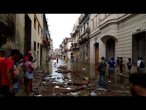 Hurricane Irma in Havana Cuba - Before, During and After