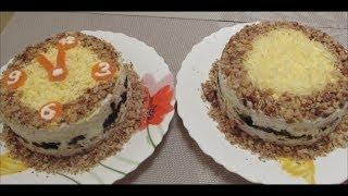 Салат с курицей черносливом и орехами
