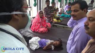 अकोला!शासकीय रुग्णालयात पालक मंत्री डॉ रणजीत पाटील यांची धडक एन्ट्री!गरीब रुग्णासोबत केली चर्चा