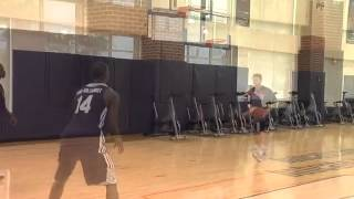 Michael Kidd-Gilchrist practicing on his Jumpshot