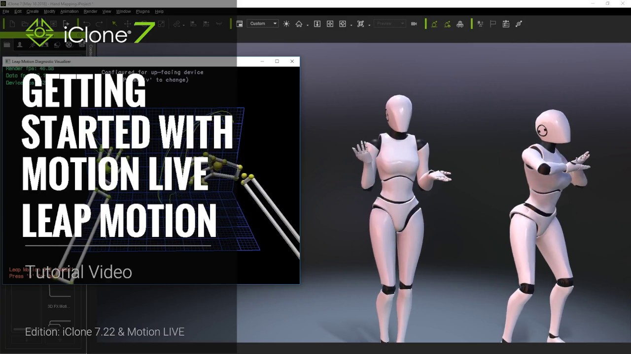 iClone 7 22 Tutorial - Motion LIVE: Getting Started with the Leap Motion  Controller