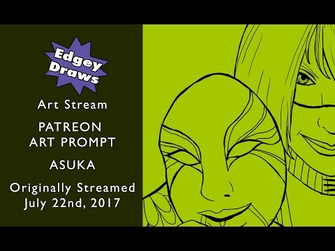 Edgey Draws: Art Stream!  Patreon Art Prompt: Asuka (WWE)