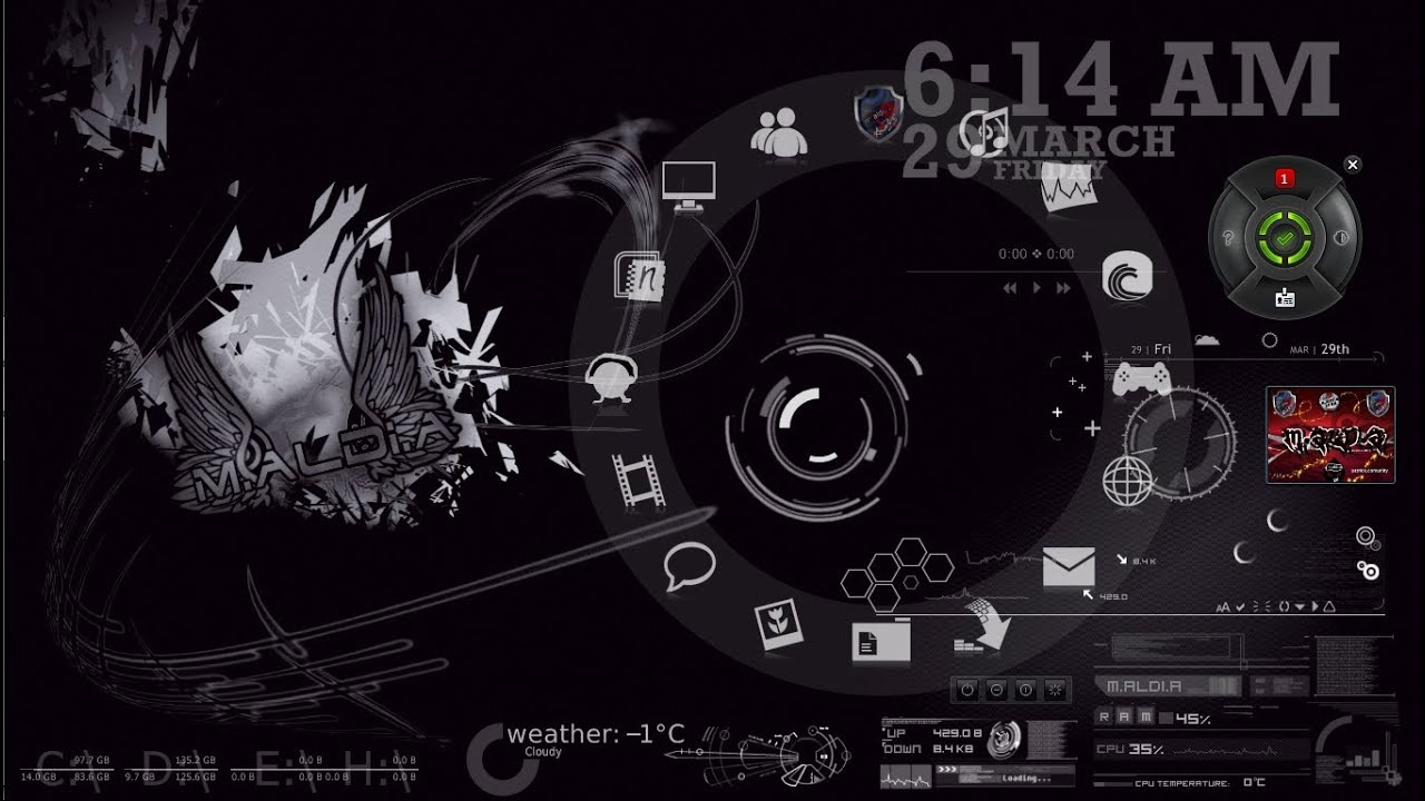 How to install rainmeter skin for windows 7 youtube for Bureau windows 7 rainmeter