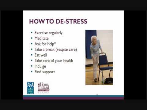Managing the Stress of a Family Caregiver - Professional Caregiver Recorded Webinar
