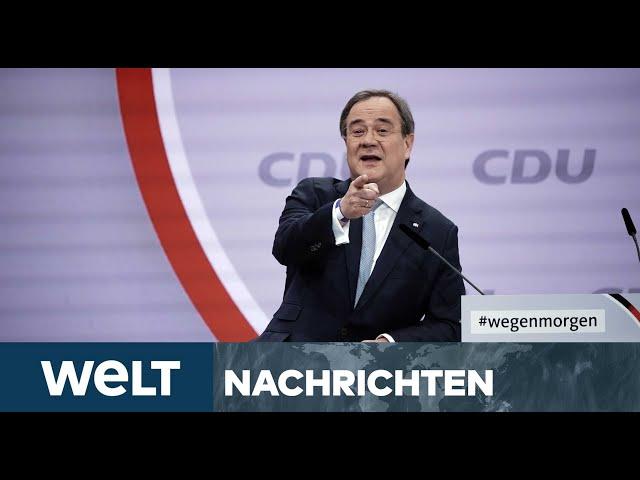 CDU WÄHLT KNALLHART DIE MITTE: Armin Laschet mit starkem Ergebnis zum CDU-Vorsitzenden gekürt