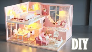 DIY Miniature Dollhouse Kit || Warm Time - Miniature Land
