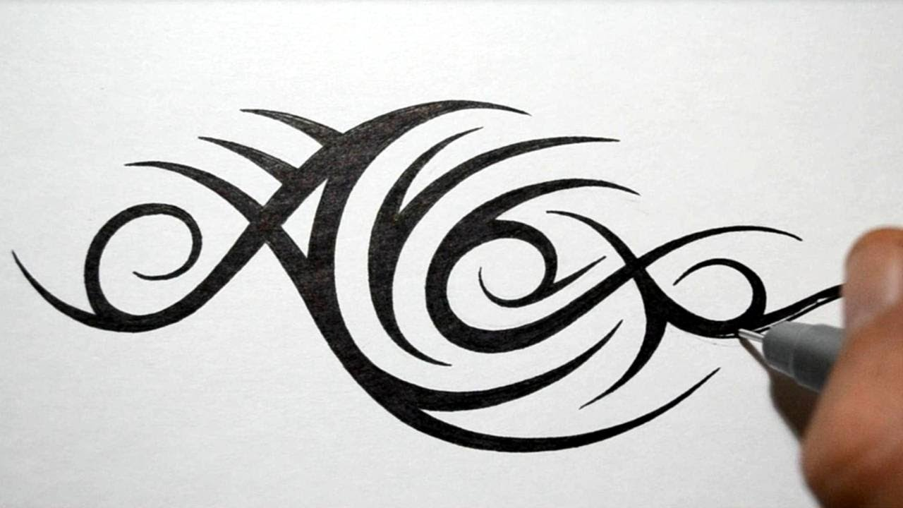 Tribal Letter A Tattoo Designs