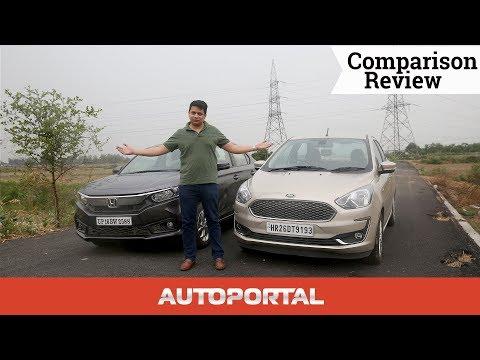 Ford Aspire Vs Honda Amaze Comparison English - Autoportal