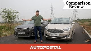Ford Aspire vs Honda Amaze comparison English - Autoportal