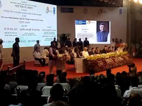 IT Minister Shri Ravi Shankar Prasad during Launching of Tele Law Service in Patna Bihar.