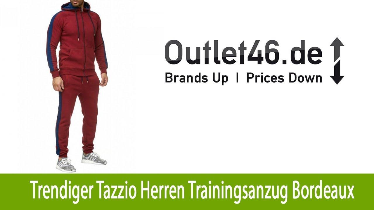 100% Qualität helle n Farbe neueste trends Trendiger Tazzio Fashion Herren Trainingsanzug online Bordeaux | Outlet46.de