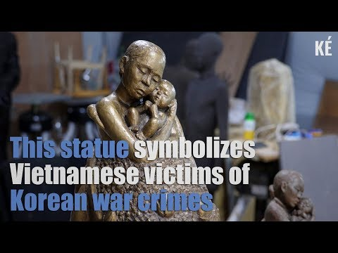 This statue symbolizes Vietnamese victims of South Korean war crimes