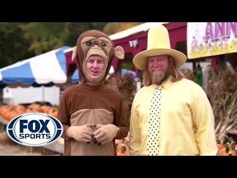Cooper Manning and Nick Mangold do NOT role play Curious George - #MANNINGHOUR