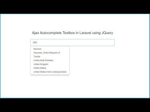 Ajax Autocomplete in Laravel