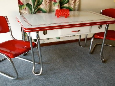 Retro Kitchen Table How To Renovate A Small On Budget Youtube